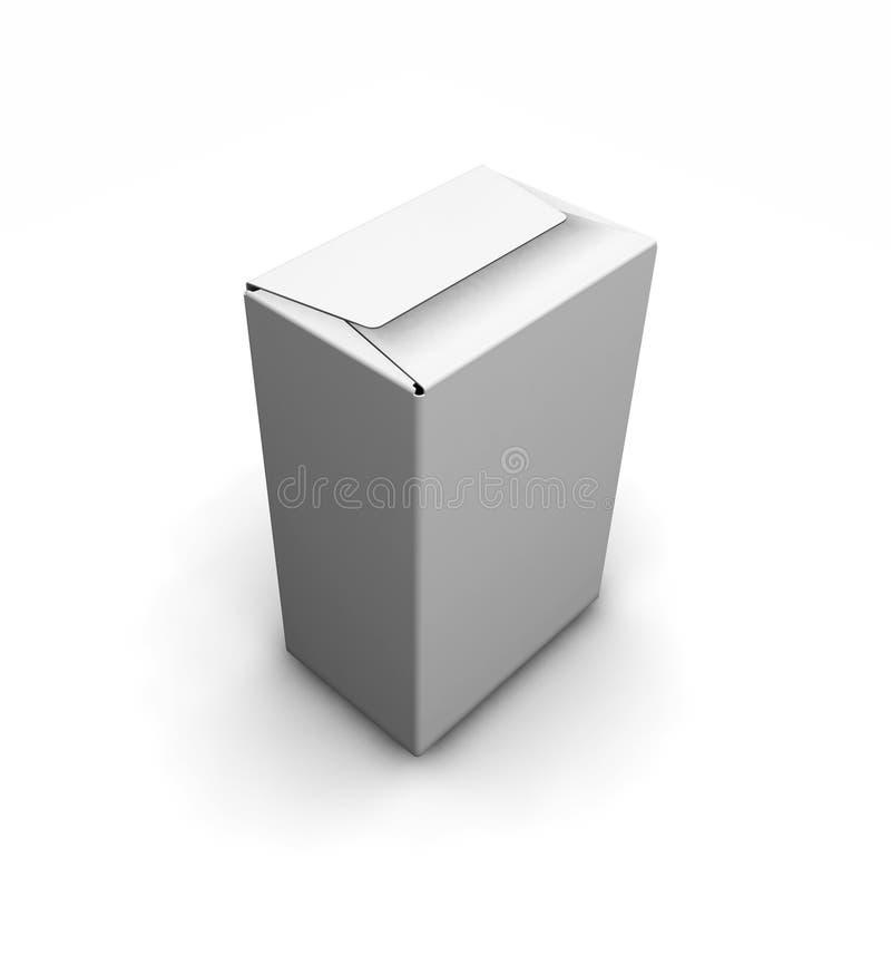 Caixa branca em branco ilustração stock