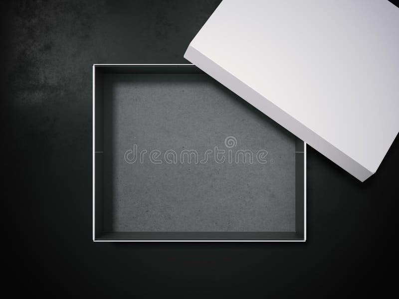 Caixa branca rendição 3d ilustração royalty free