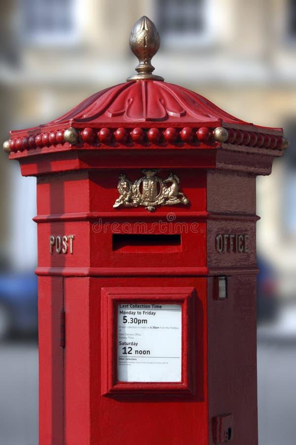 Caixa britânica do borne - cidade do banho - Inglaterra imagem de stock royalty free