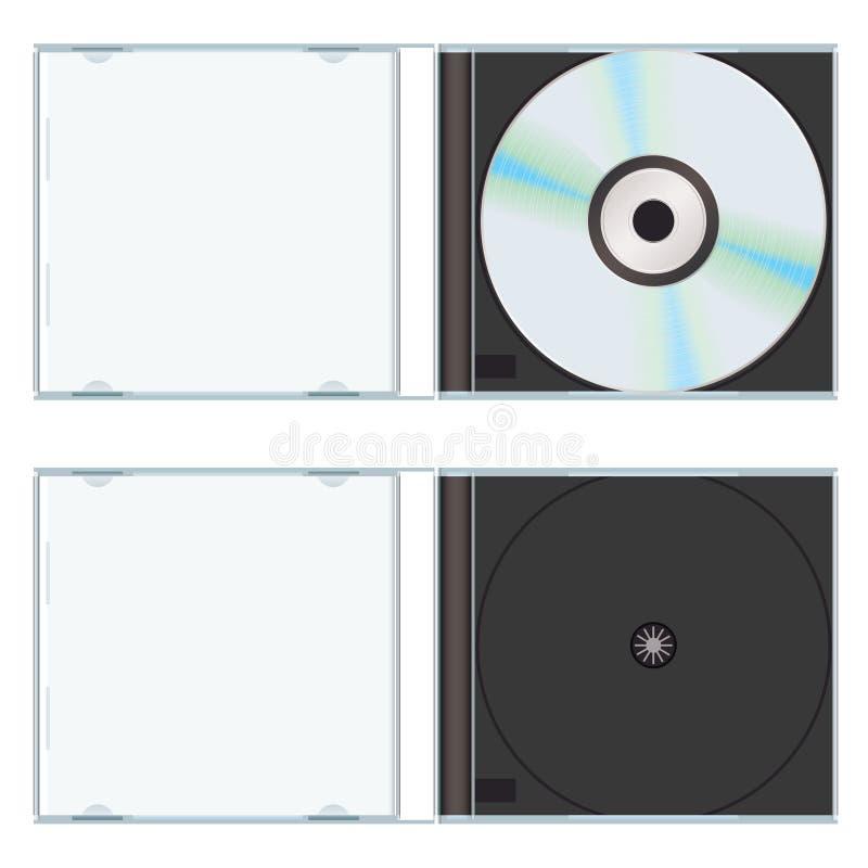 Caixa cd da música vazia ilustração stock