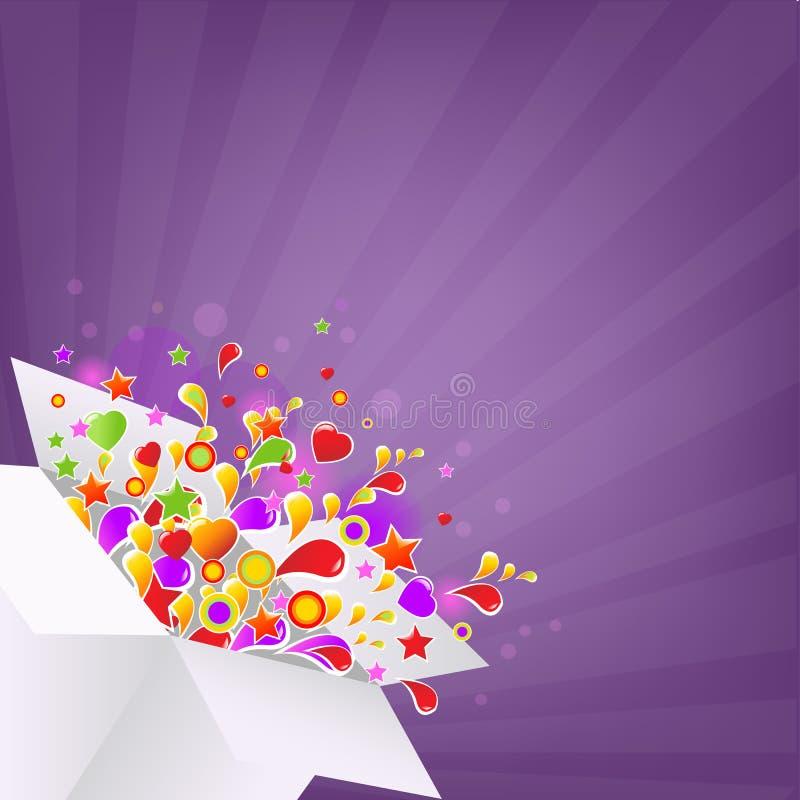 Caixa Colorida Imagem de Stock Royalty Free