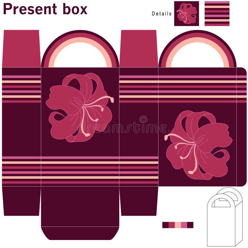 Caixa com flores ilustração do vetor