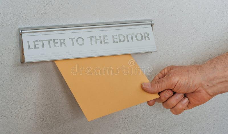 Caixa com a inscrição Carta ao editor foto de stock