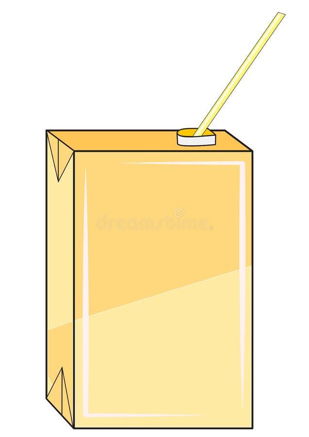 Caixa com suco ilustração stock