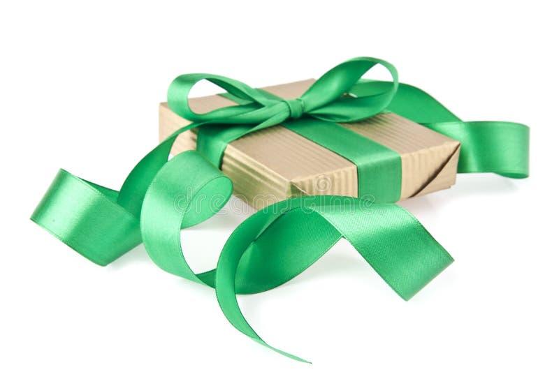 Caixa com um presente fotos de stock royalty free