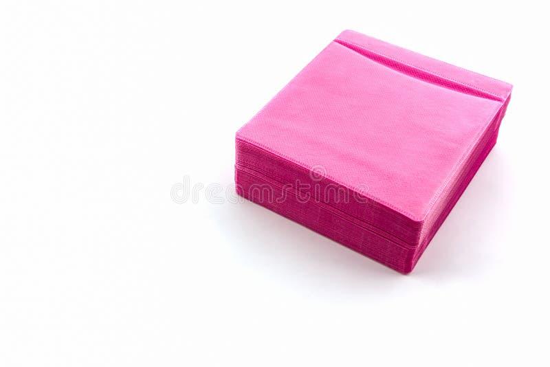 Caixa cor-de-rosa do papel do CD fotos de stock royalty free
