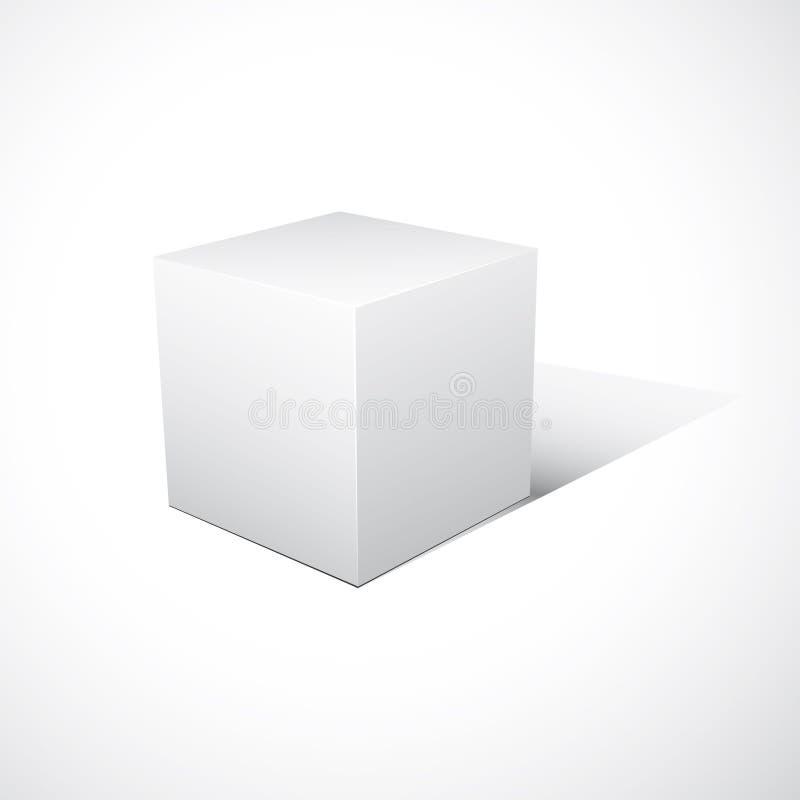 Caixa Cube-shaped do pacote imagem de stock