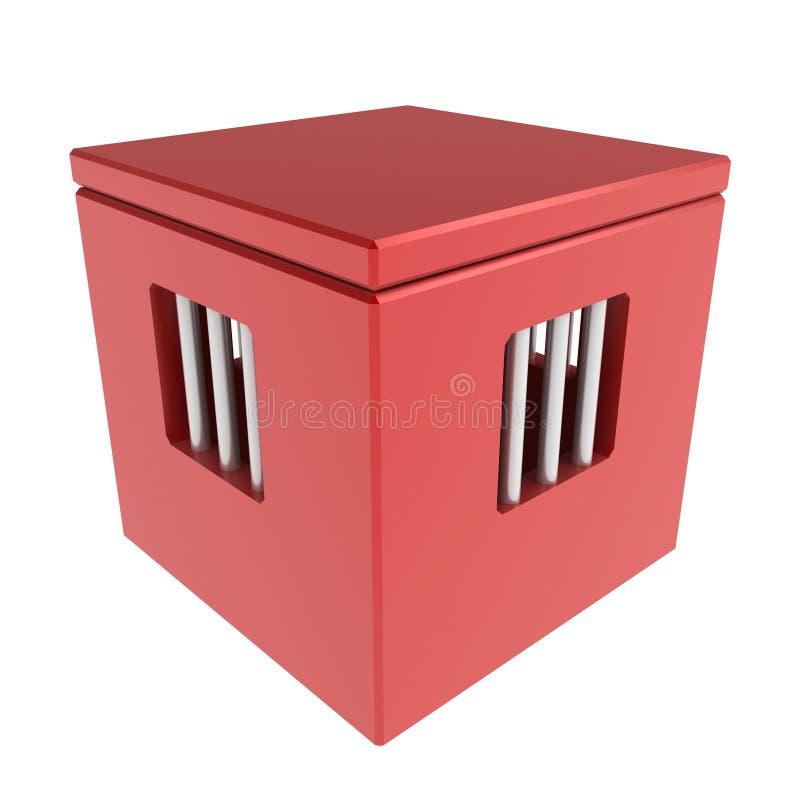 Caixa da cadeia ilustração royalty free