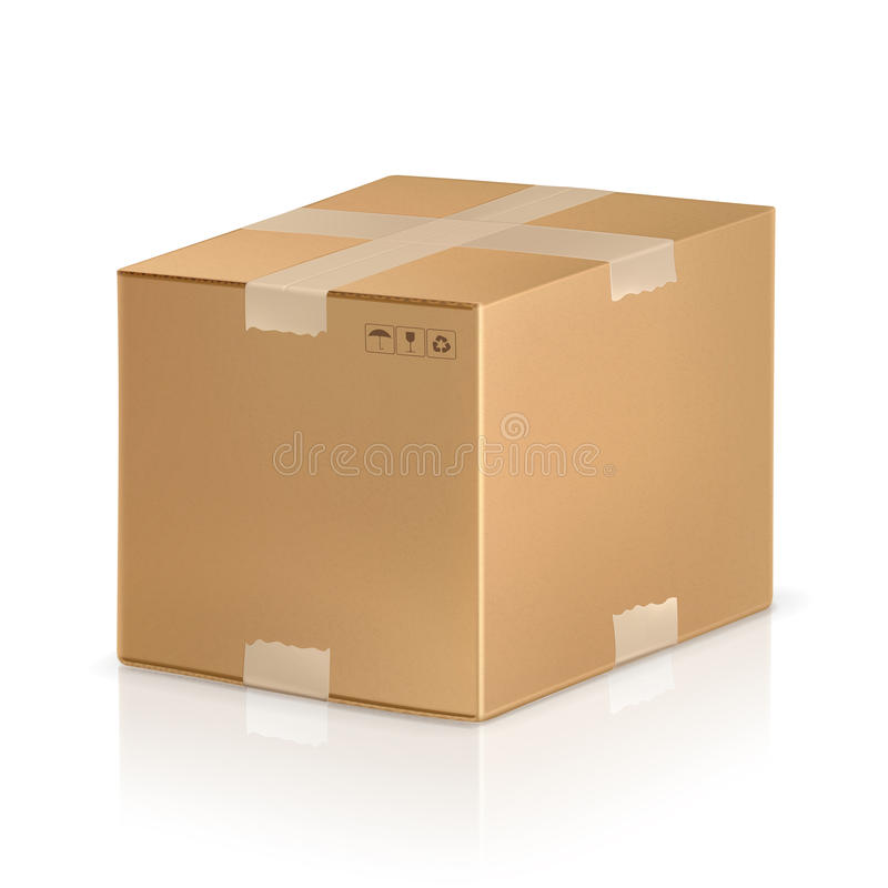 Caixa da caixa ilustração do vetor