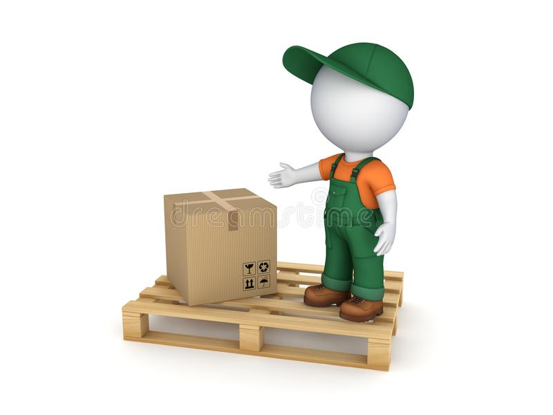 Caixa da caixa ilustração stock