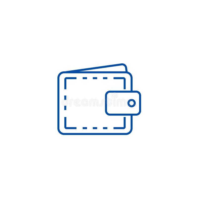 Caixa da carteira, linha conceito da finança do ícone Caixa da carteira, símbolo liso do vetor da finança, sinal, ilustração do e ilustração royalty free