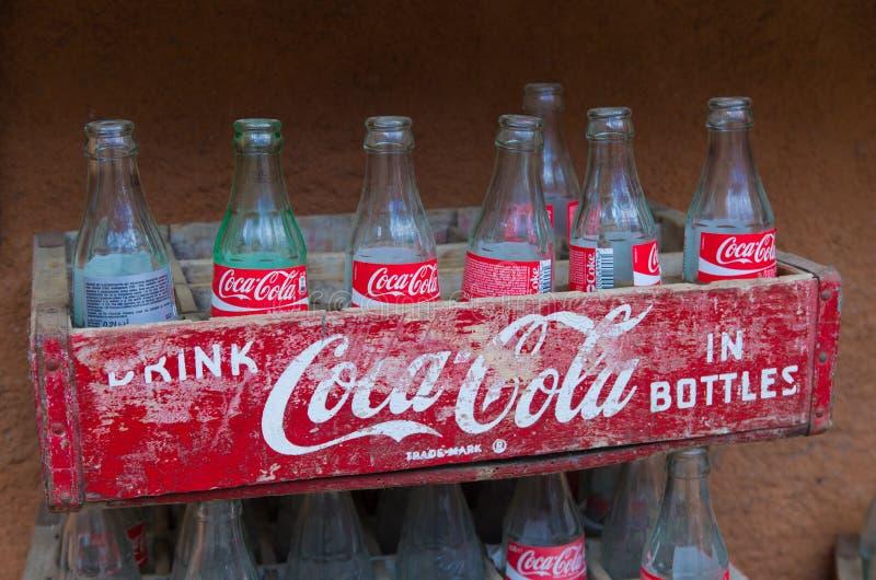 Caixa da coca-cola do vintage foto de stock