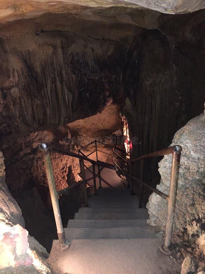 Caixa da escada da caverna fotos de stock royalty free
