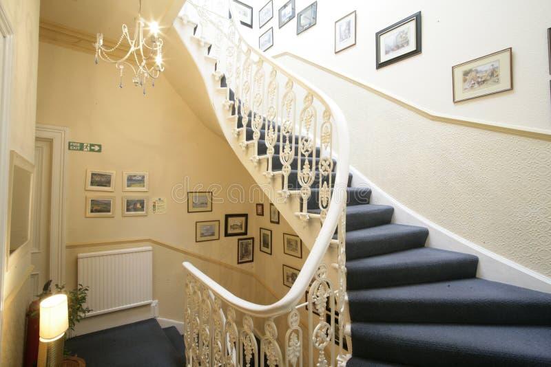 Caixa da escada do Victorian foto de stock
