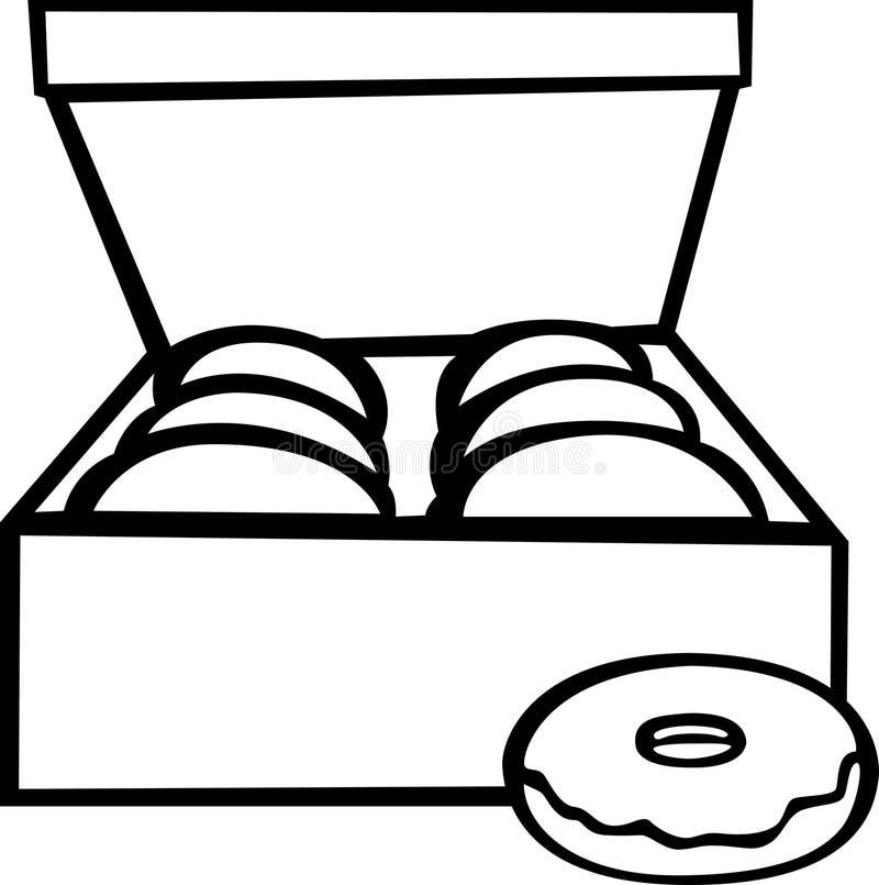 Caixa da filhós ilustração stock