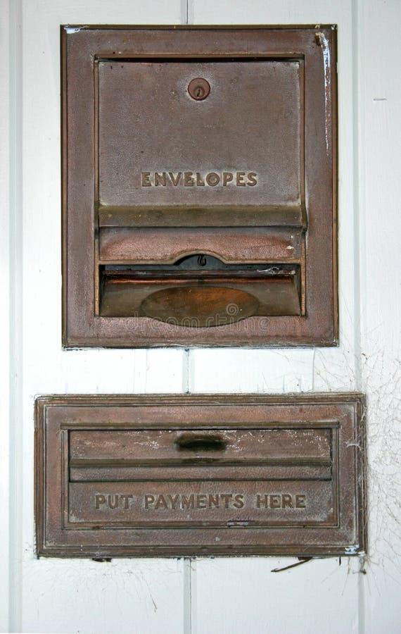 Caixa da gota do pagamento foto de stock