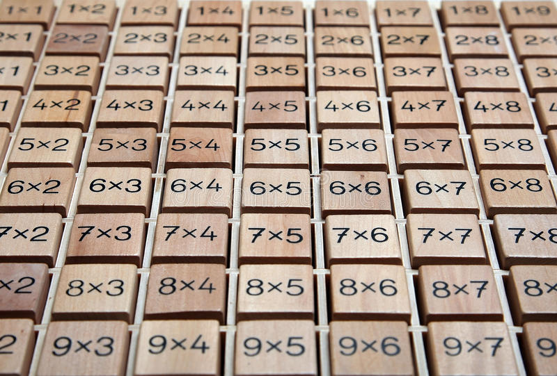 Caixa da matemática imagem de stock royalty free