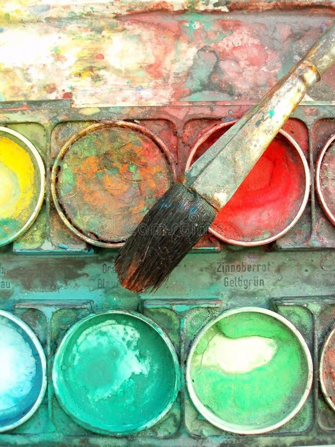 Caixa da paleta de cor ilustração stock