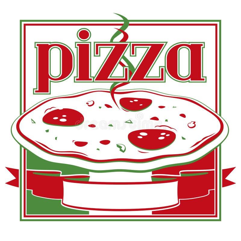 Caixa da pizza ilustração stock