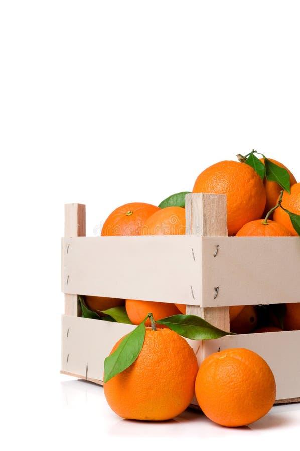 Caixa das laranjas imagens de stock royalty free