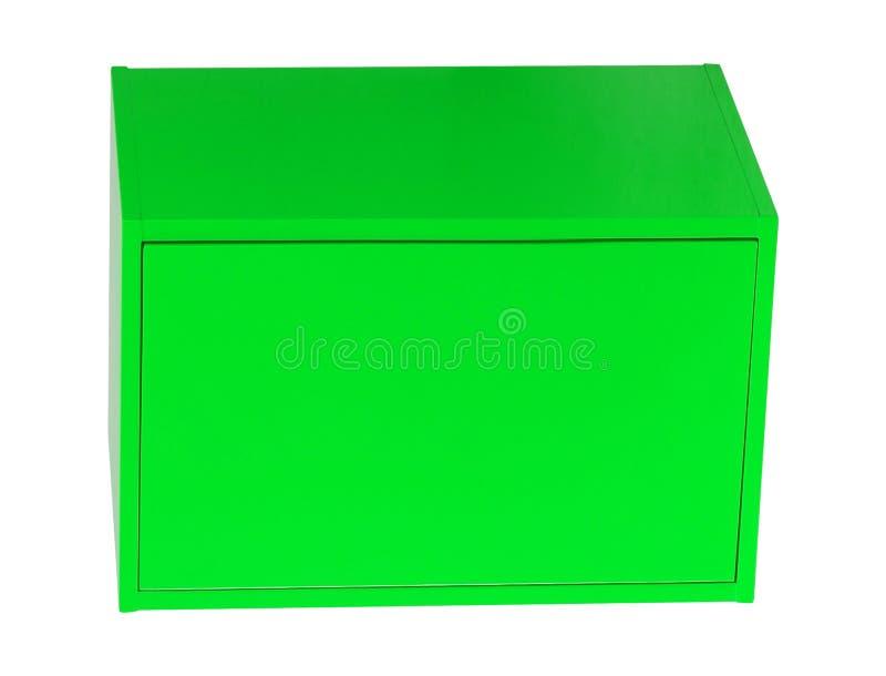 Caixa de aço isolada no branco foto de stock