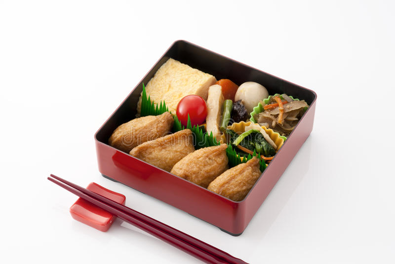 Caixa de almoço japonesa foto de stock