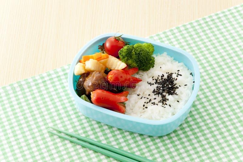 Caixa de almoço japonesa fotos de stock