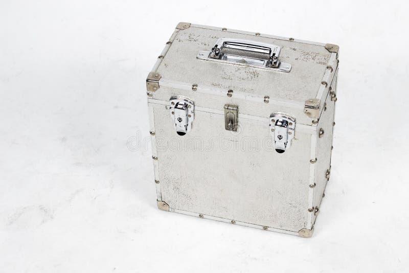 Caixa de alumínio suja fotografia de stock