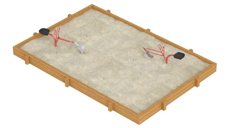 Caixa de areia ilustração royalty free