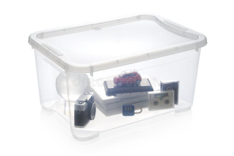Caixa de armazenamento plástica fotografia de stock