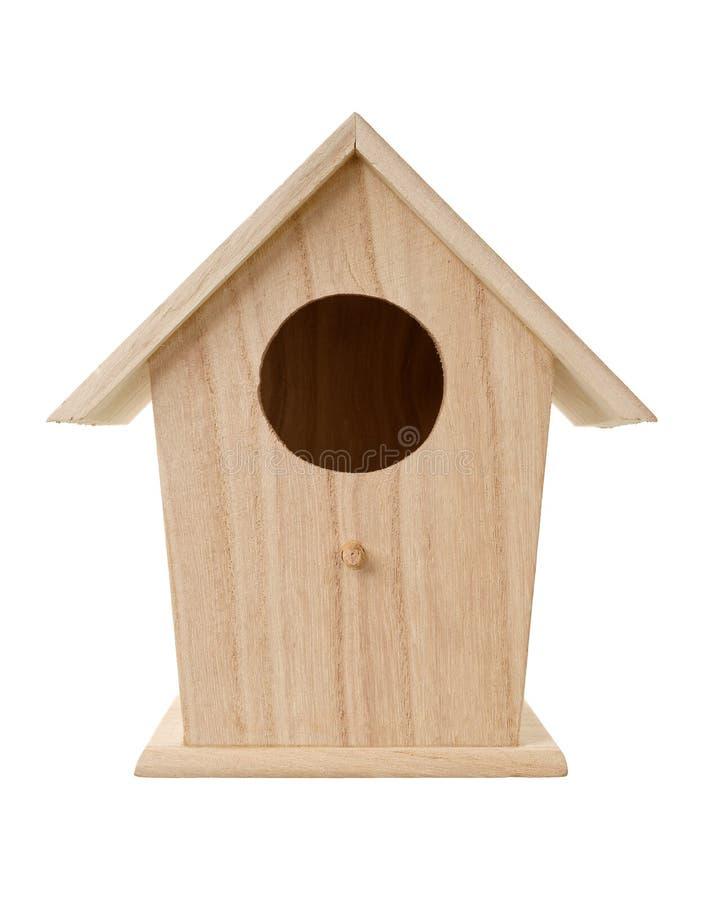 Caixa de assentamento de madeira do pássaro fotos de stock royalty free
