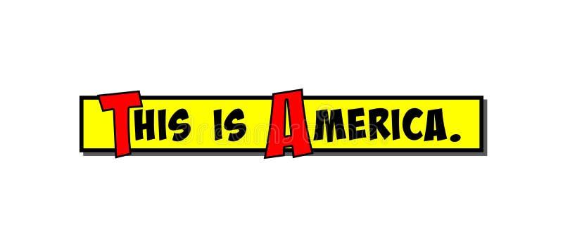 A caixa de banda desenhada isto é América ilustração royalty free