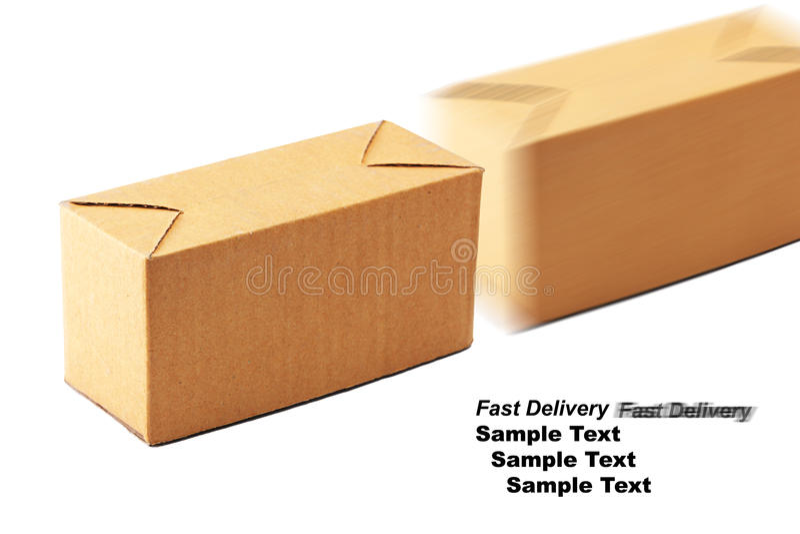 Caixa de Brown foto de stock