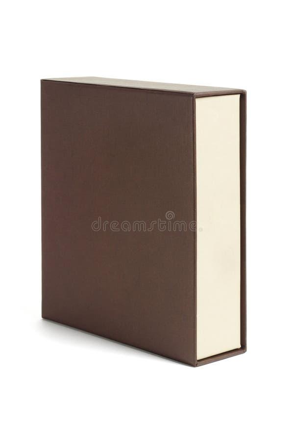 Caixa de Brown do retângulo fotografia de stock