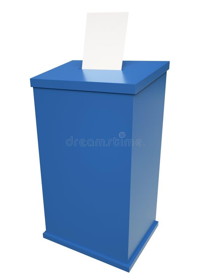 Caixa de cédula ilustração do vetor