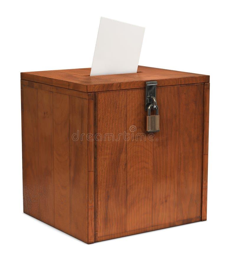 Caixa de cédula fotografia de stock