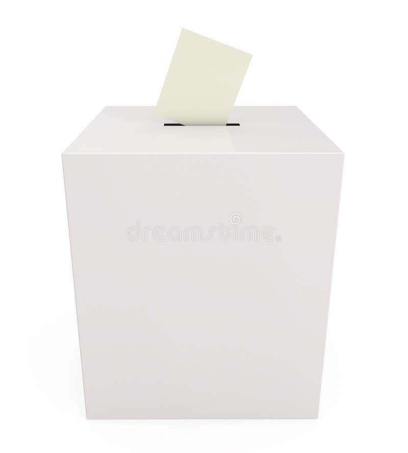 Caixa de cédula isolada no branco ilustração do vetor