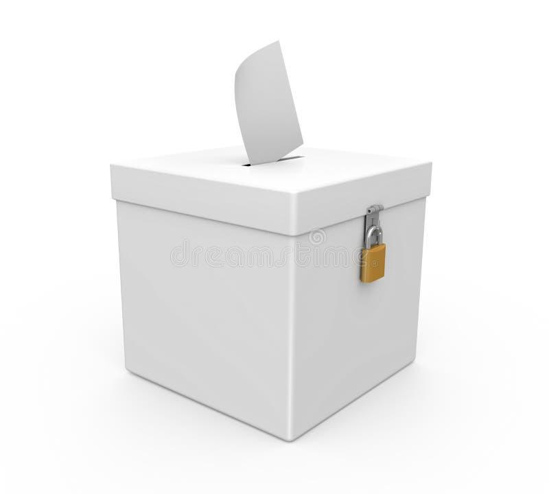 A caixa de cédula isolou-se ilustração stock