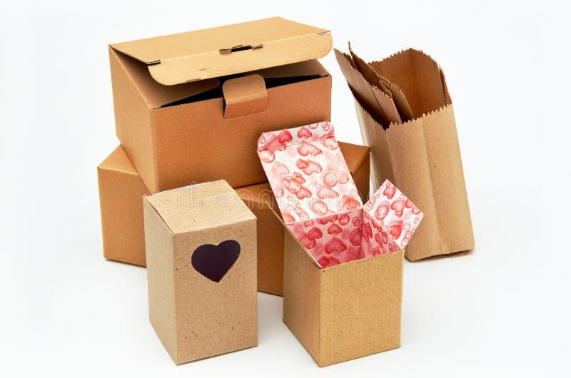 Caixa de cartão imagens de stock