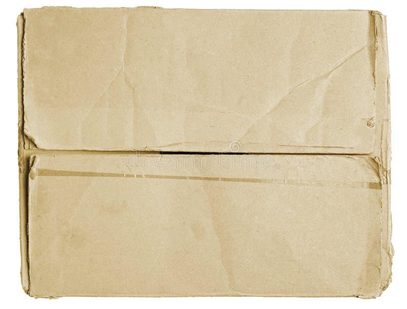 Caixa de cartão fechado fotografia de stock