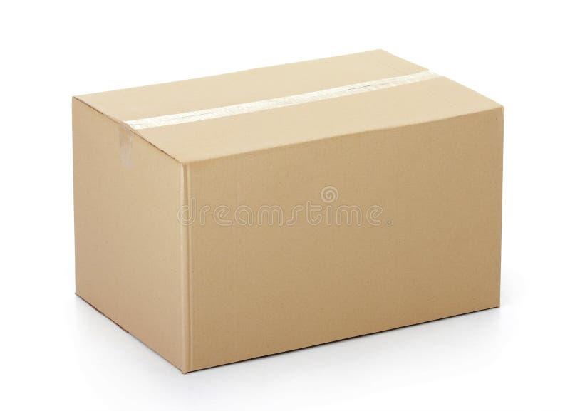 Caixa de cartão fechado gravada acima imagens de stock
