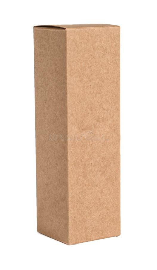 Caixa de cartão no fundo branco foto de stock