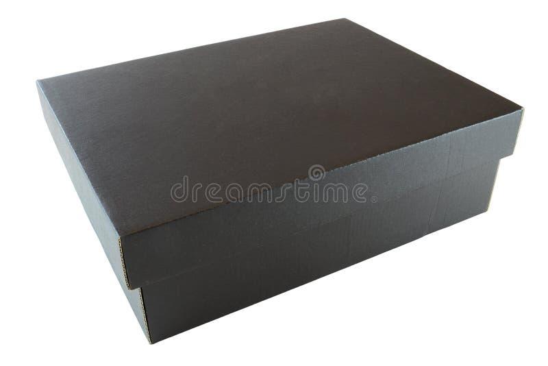 Caixa de cartão preta fotografia de stock