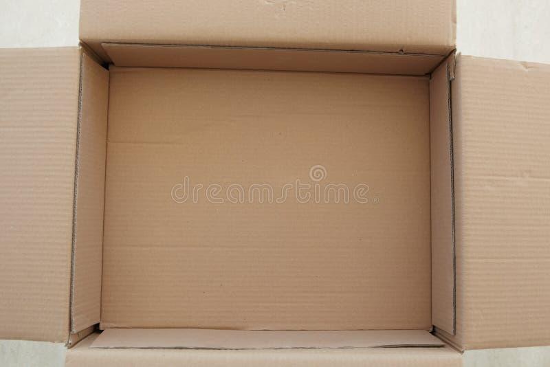 Caixa de cartão vazia foto de stock royalty free