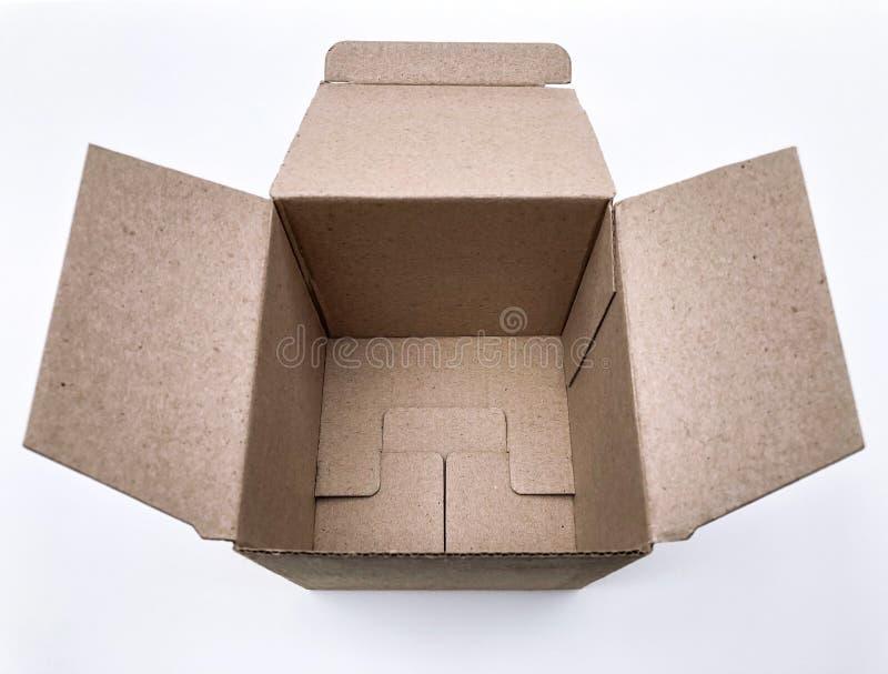 Caixa de cart?o vazia imagem de stock royalty free