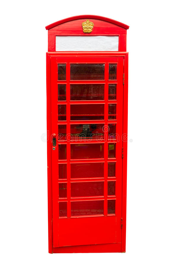 Caixa de chamada do vintage de Londres fotografia de stock