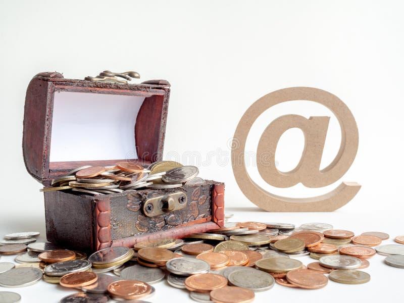 Caixa de ChestTreasure do tesouro imagens de stock
