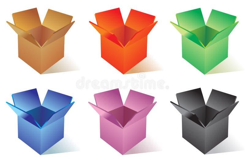 Caixa de cor ilustração do vetor