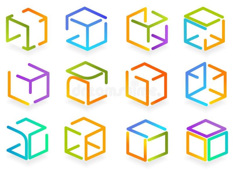 Caixa de cor do símbolo ilustração stock
