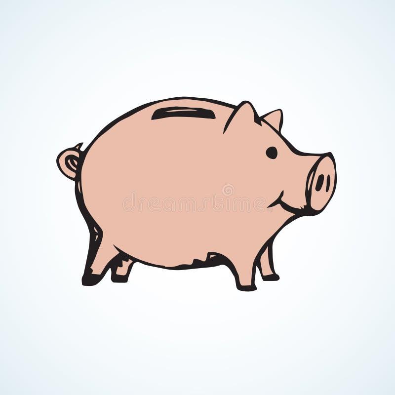 Caixa de dinheiro velho S?mbolo do vetor ilustração do vetor